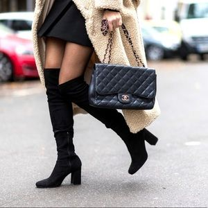 Zara basic collection over the knee boots 38